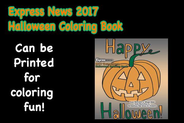 2017 Express News Halloween Coloring Book | Express News, Hometown ...